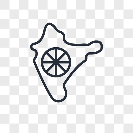 India vector icon isolated on transparent background, India logo concept