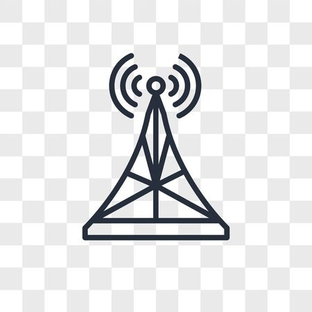 Antenna vector icon isolated on transparent background, Antenna logo concept