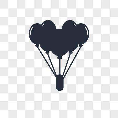Balloon vector icon isolated on transparent background, Balloon logo concept