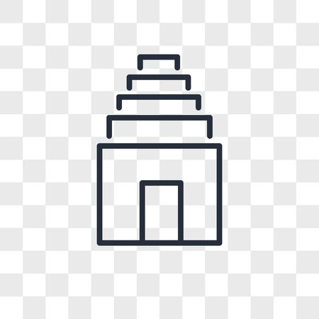 Temple vector icon isolated on transparent background, Temple logo concept