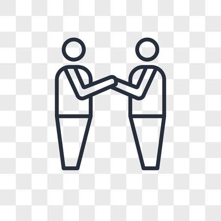 brotherhood vector icon isolated on transparent background, brotherhood logo concept Illusztráció