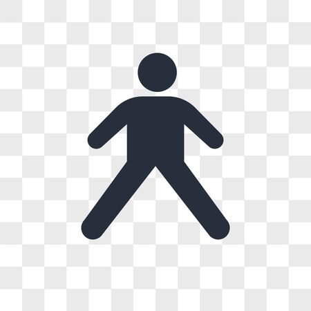Stretching Pose vector icon isolated on transparent background, Stretching Pose logo concept Illustration