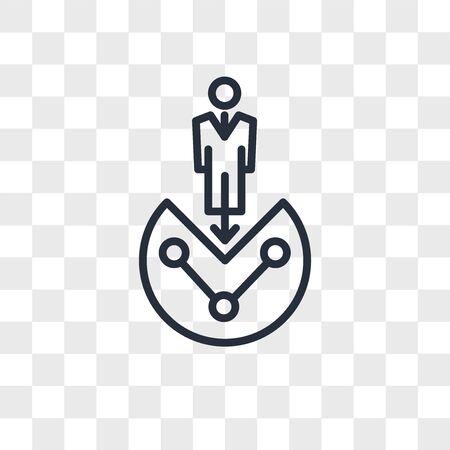 customer segmentation vector icon isolated on transparent background, customer segmentation logo concept