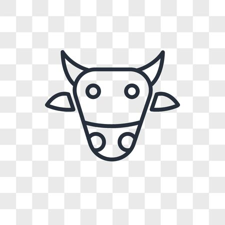 Sac cow vector icon isolated on transparent background, Sac cow logo concept