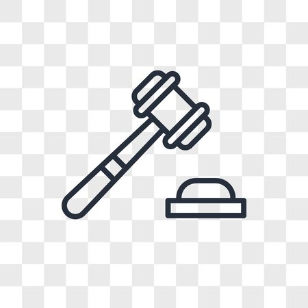 Justice vector icon isolated on transparent background, Justice logo concept