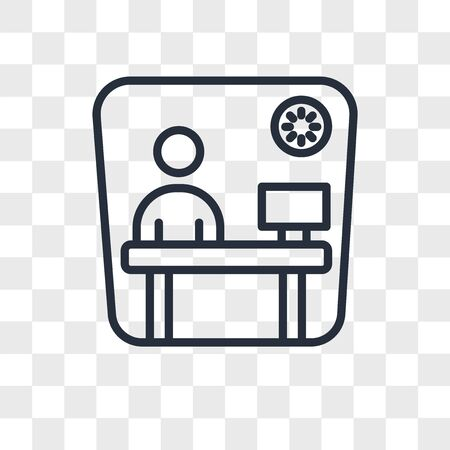 cubicle vector icon isolated on transparent background, cubicle logo concept