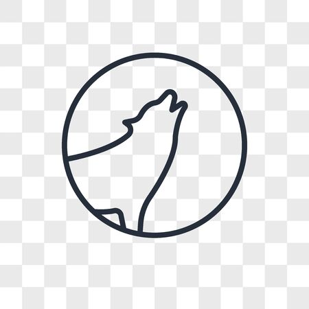 howling wolf vector icon isolated on transparent background, howling wolf logo concept