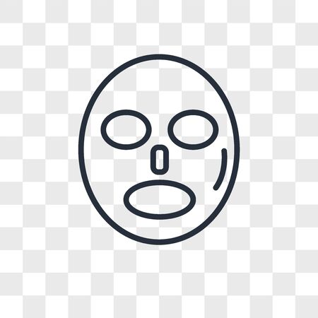 Mask for relaxation vector icon isolated on transparent background, Mask for relaxation logo concept