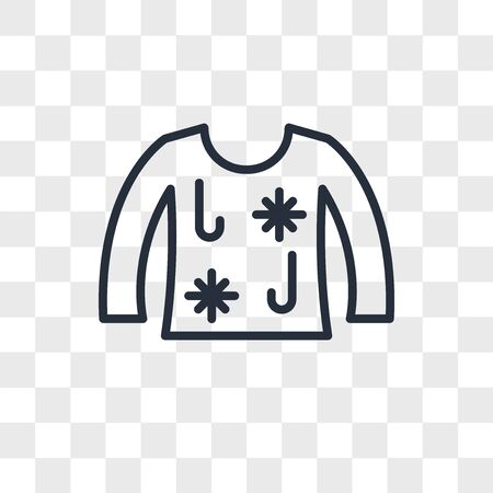 ugly christmas sweater vector icon isolated on transparent background, ugly christmas sweater logo concept Ilustrace