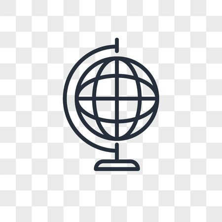 Earth globe vector icon isolated on transparent background, Earth globe logo concept