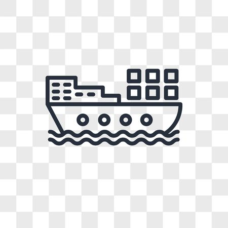 barge vector icon isolated on transparent background, barge logo concept