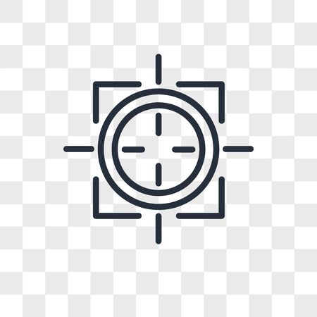 sniper zoom vector icon isolated on transparent background, sniper zoom logo concept
