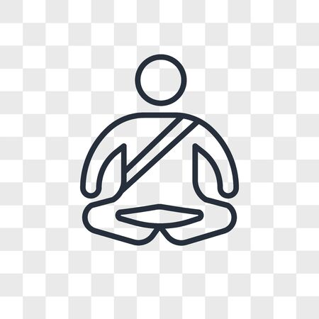 Meditation vector icon isolated on transparent background, Meditation logo concept