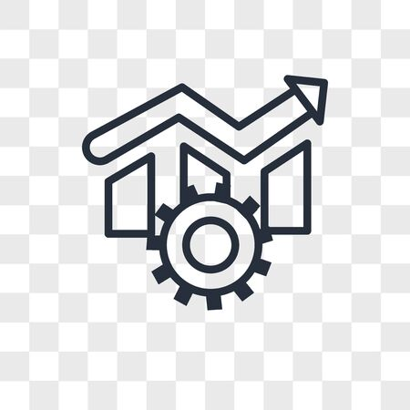 operational excellence vector icon isolated on transparent background, operational excellence logo concept