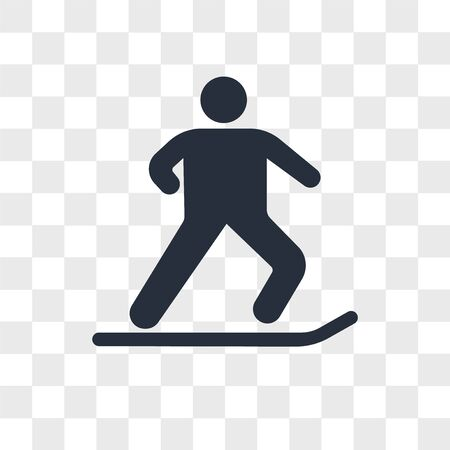 Jumping with ski vector icon isolated on transparent background, Jumping with ski logo concept Ilustrace