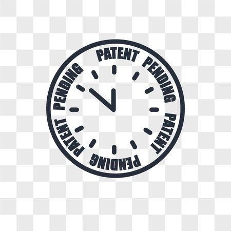 patent pending vector icon isolated on transparent background, patent pending logo concept Logo
