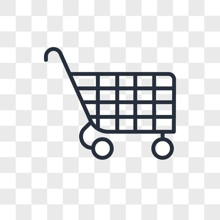 Cart vector icon isolated on transparent background, Cart logo concept