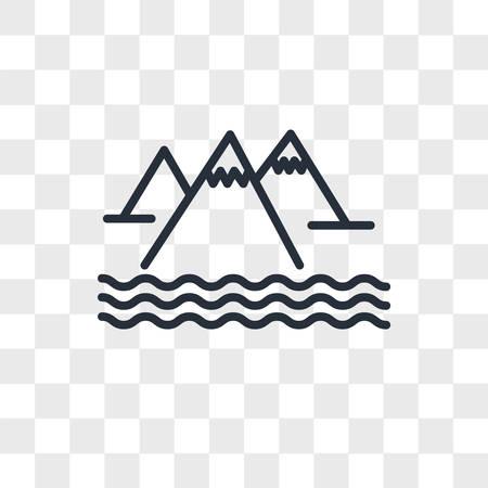 Mountain vector icon isolated on transparent background, Mountain logo concept Archivio Fotografico - 150638594