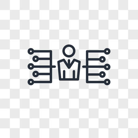delegate vector icon isolated on transparent background, delegate logo concept