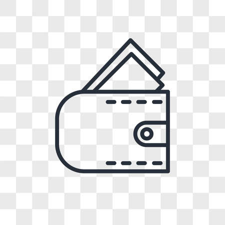 Wallet vector icon isolated on transparent background, Wallet logo concept Archivio Fotografico - 150638596