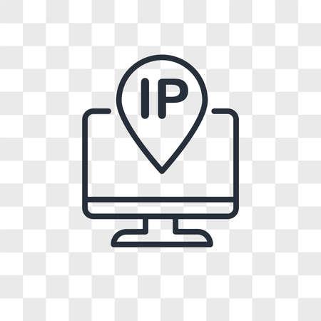 ip address vector icon isolated on transparent background, ip address logo concept Archivio Fotografico - 150638598