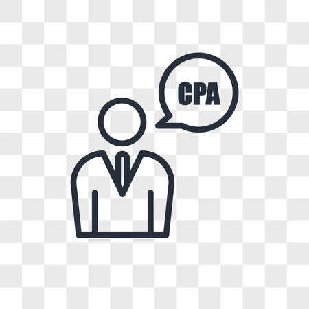 cpa vector icon isolated on transparent background, cpa logo concept Vettoriali