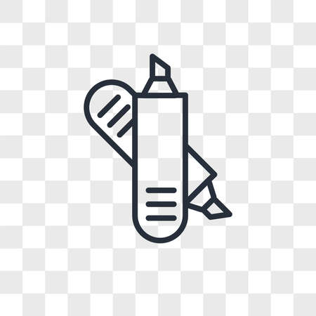 Crayons vector icon isolated on transparent background, Crayons logo concept