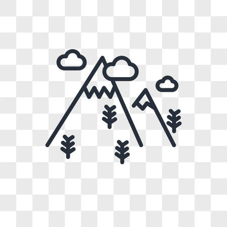 Mountain vector icon isolated on transparent background, Mountain logo concept Archivio Fotografico - 150638672