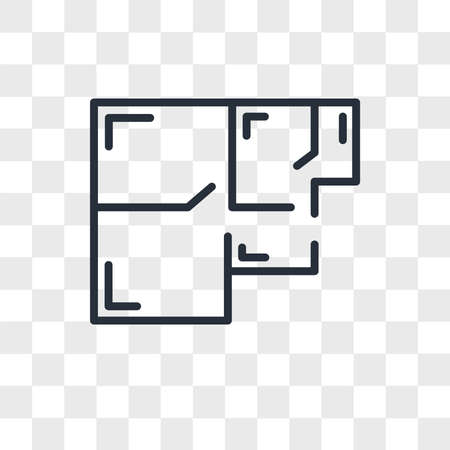 floorplan vector icon isolated on transparent background, floorplan logo concept