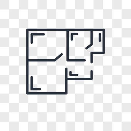 floorplan vector icon isolated on transparent background, floorplan logo concept Archivio Fotografico - 150638675