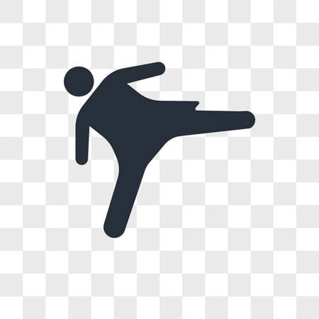 Girl kicking vector icon isolated on transparent background, Girl kicking logo concept Archivio Fotografico - 150638683