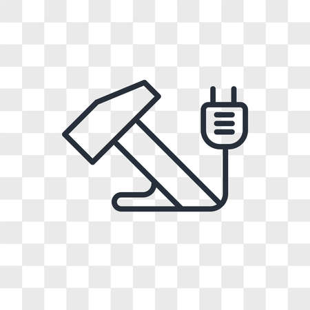 Hammer vector icon isolated on transparent background, Hammer logo concept Ilustração