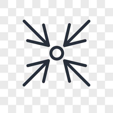 Focus vector icon isolated on transparent background, Focus logo concept Archivio Fotografico - 150638757