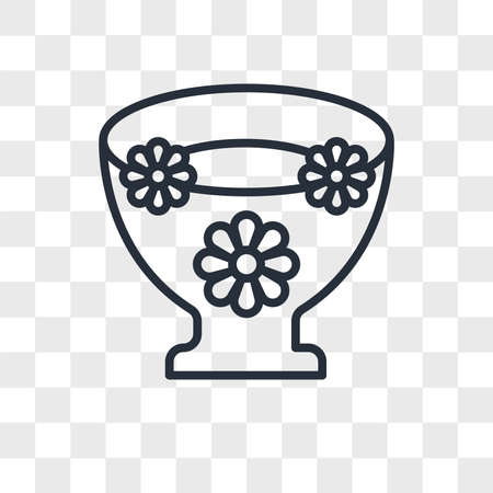 Flowers floating vector icon isolated on transparent background, Flowers floating logo concept Vettoriali