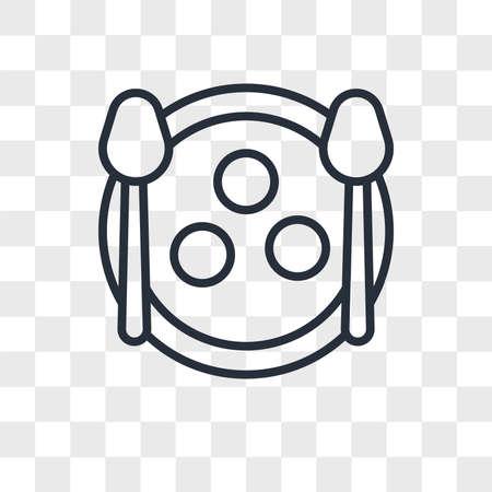 Matzo Ball Soup vector icon isolated on transparent background, Matzo Ball Soup logo concept