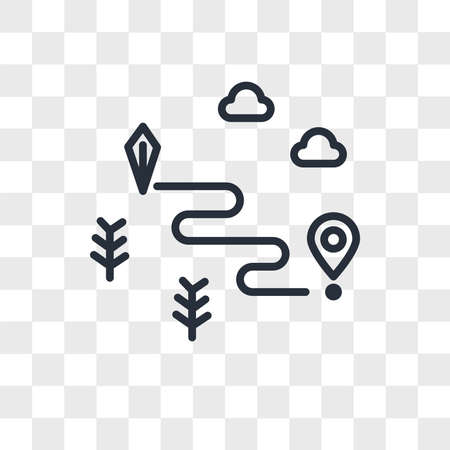 Map vector icon isolated on transparent background, Map logo concept Archivio Fotografico - 150638769