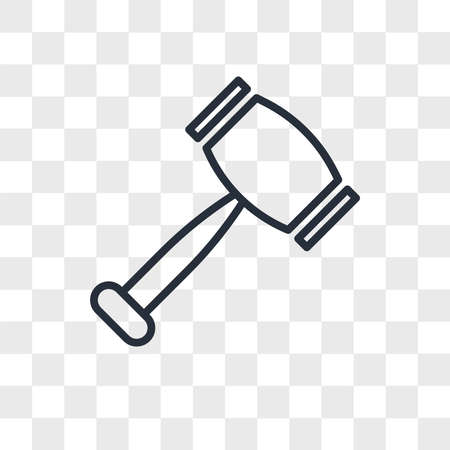 rubber hammer vector icon isolated on transparent background, rubber hammer logo concept