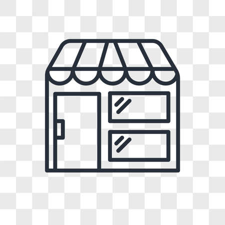 Store vector icon isolated on transparent background, Store logo concept Archivio Fotografico - 150638774