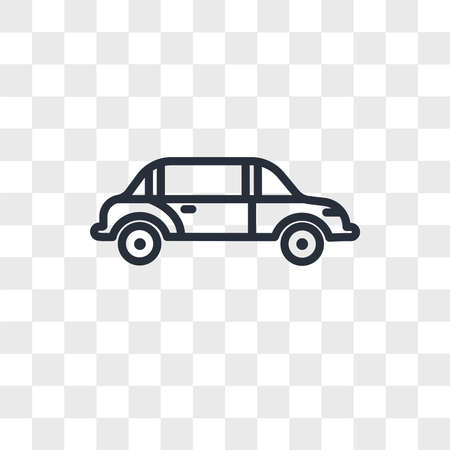 limo vector icon isolated on transparent background, limo logo concept
