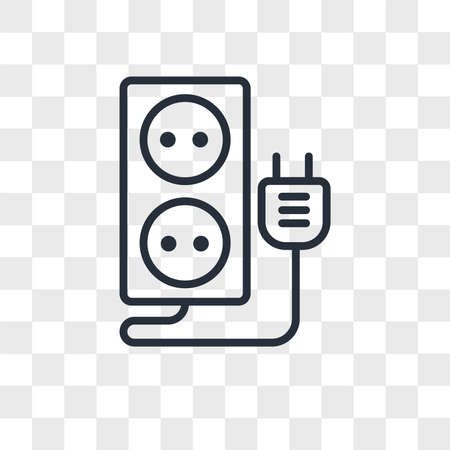 Socket vector icon isolated on transparent background, Socket logo concept Vettoriali