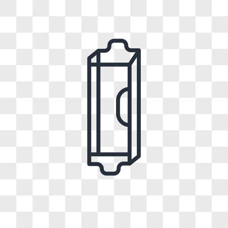 Mezuzah vector icon isolated on transparent background, Mezuzah logo concept Archivio Fotografico - 150638997