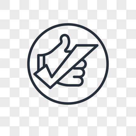 okey vector icon isolated on transparent background, okey logo concept