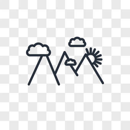 hill station vector icon isolated on transparent background, hill station logo concept