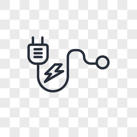Plug vector icon isolated on transparent background, Plug logo concept Archivio Fotografico - 150640949