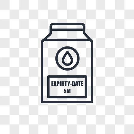 expiry date vector icon isolated on transparent background, expiry date logo concept Vettoriali