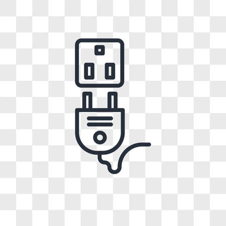 Socket vector icon isolated on transparent background, Socket logo concept 일러스트