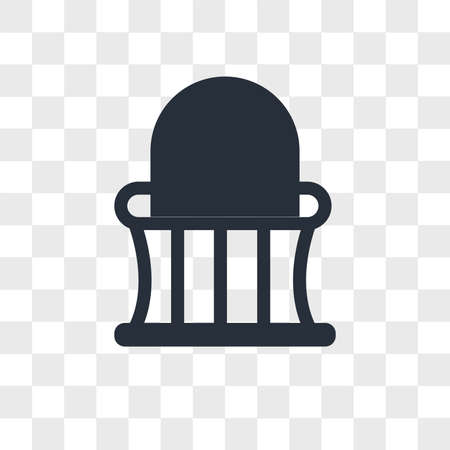 Balcony vector icon isolated on transparent background, Balcony logo concept