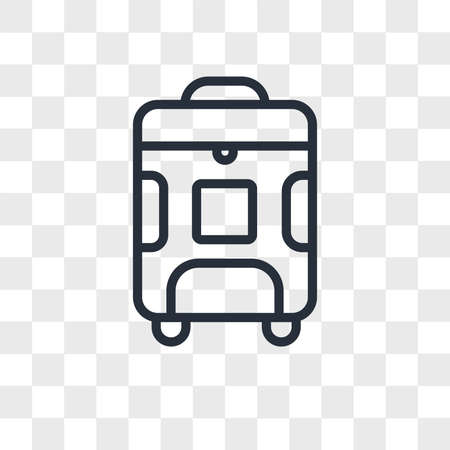 Luggage vector icon isolated on transparent background, Luggage logo concept