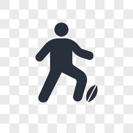 Man Playing Rugby vector icon isolated on transparent background, Man Playing Rugby logo concept 矢量图像