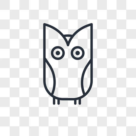 Owl vector icon isolated on transparent background, Owl logo concept Ilustrace